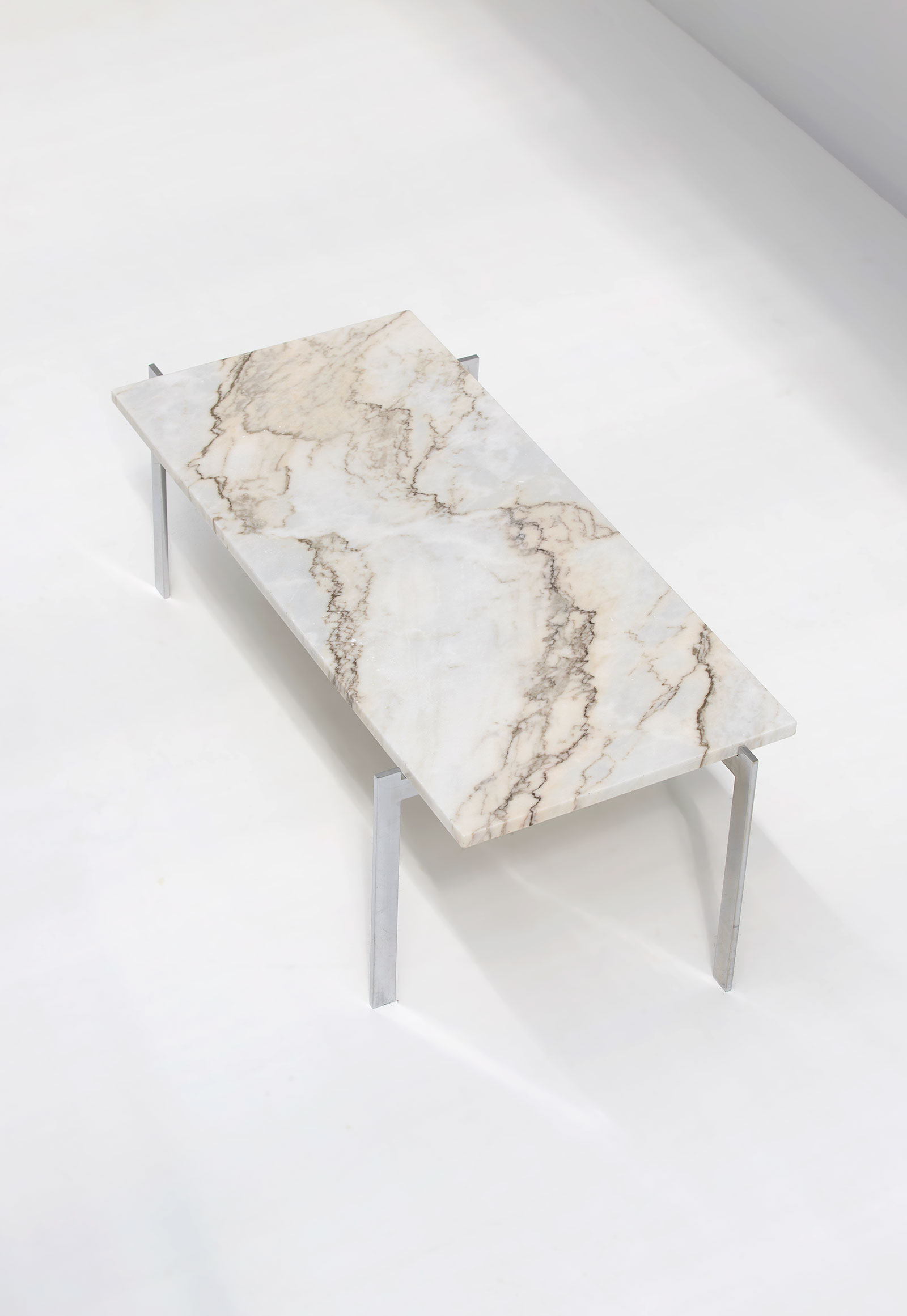 1960s Marble & Chrome Coffee Table