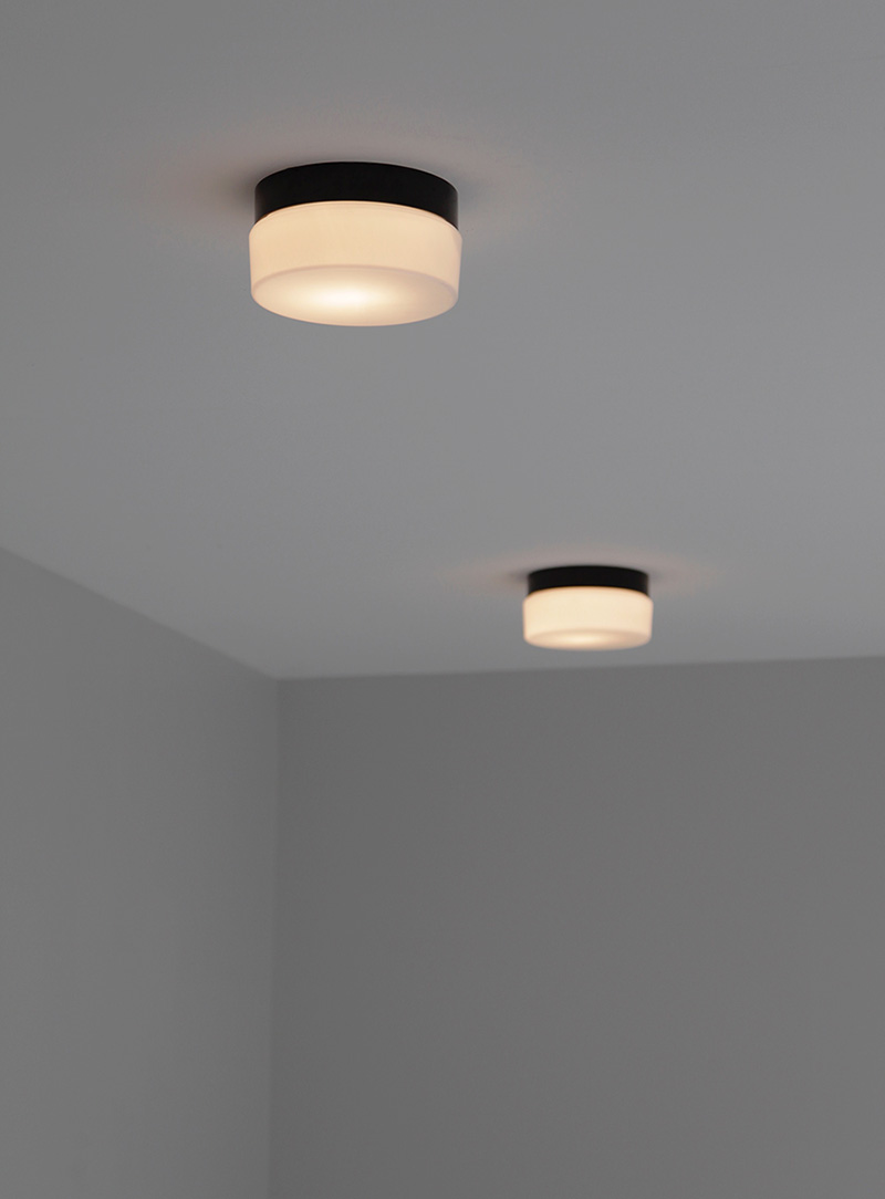 Two Minimalist 1970s Ceiling Lamps   image 4