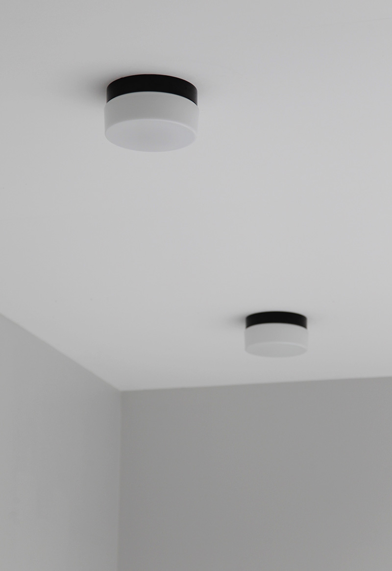 Two Minimalist 1970s Ceiling Lamps   image 1