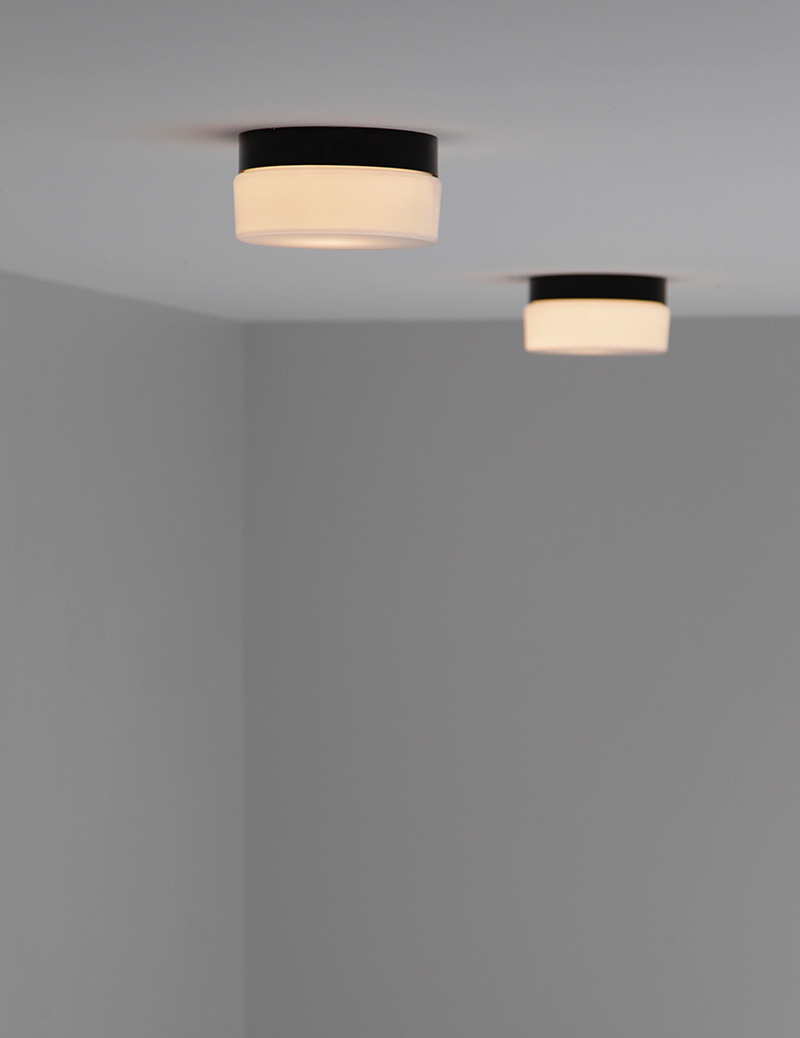 Two Minimalist 1970s Ceiling Lamps   image 3