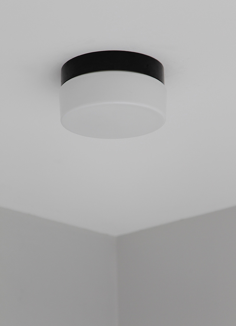 Two Minimalist 1970s Ceiling Lamps