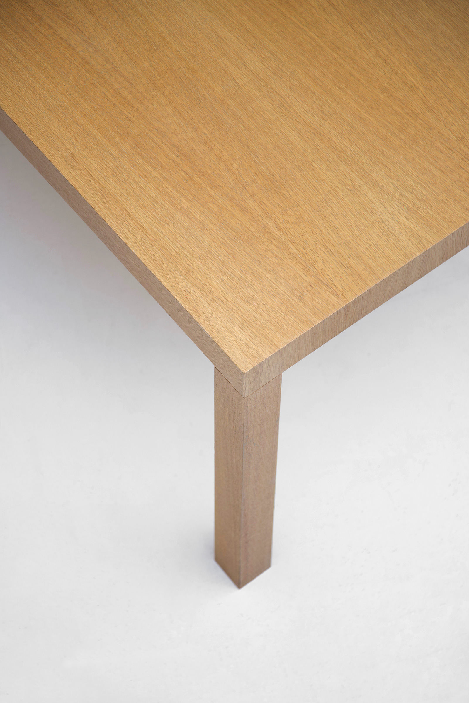 Minimalist Oak Dining Table