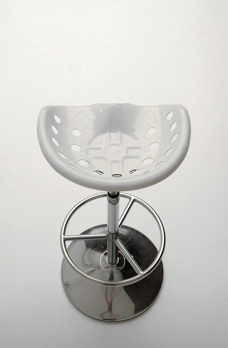 ETIENNE FERMIGIER TWO BAR STOOLS