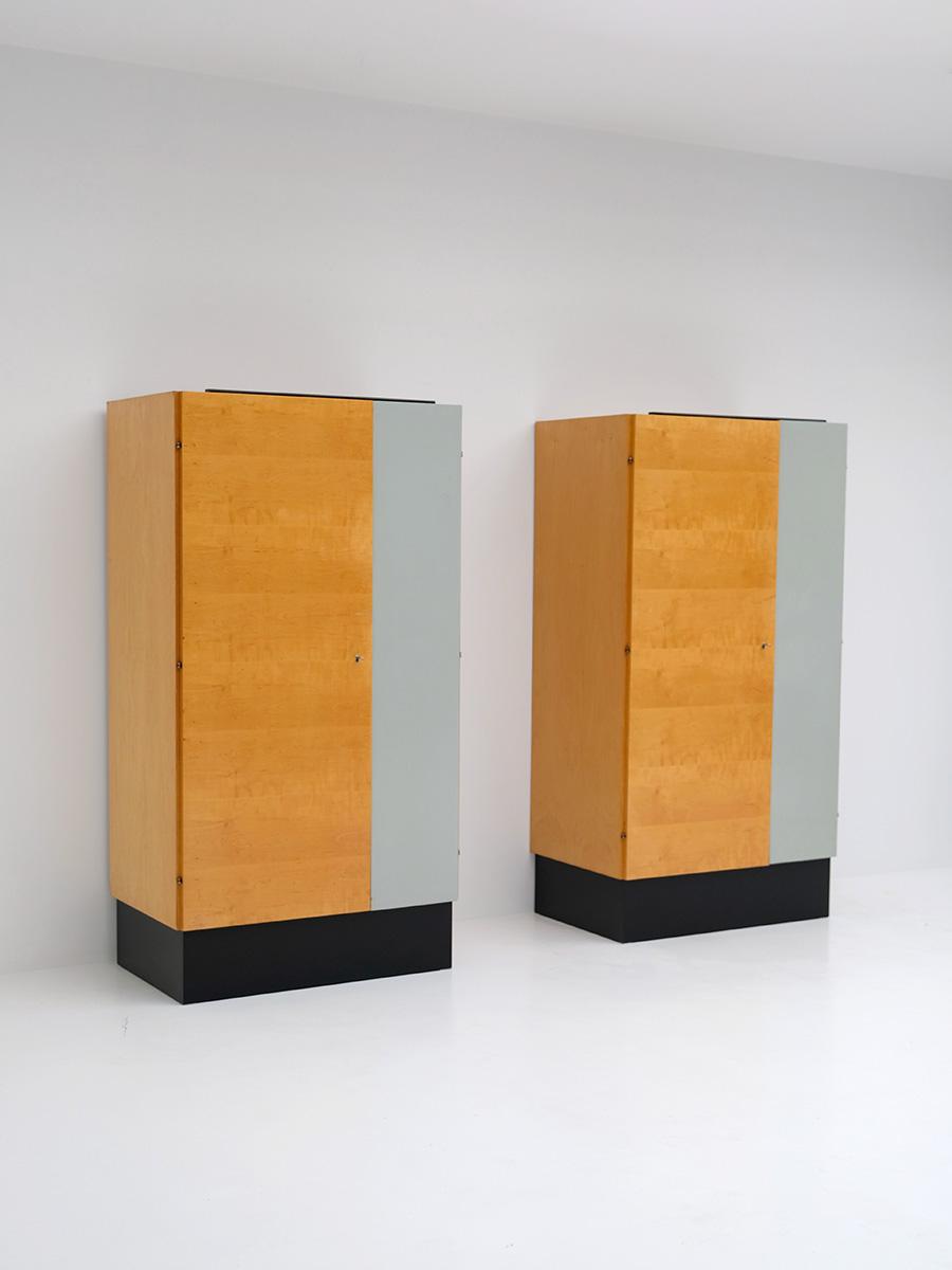 Pair of Modernist 50s Wardrobesimage 5
