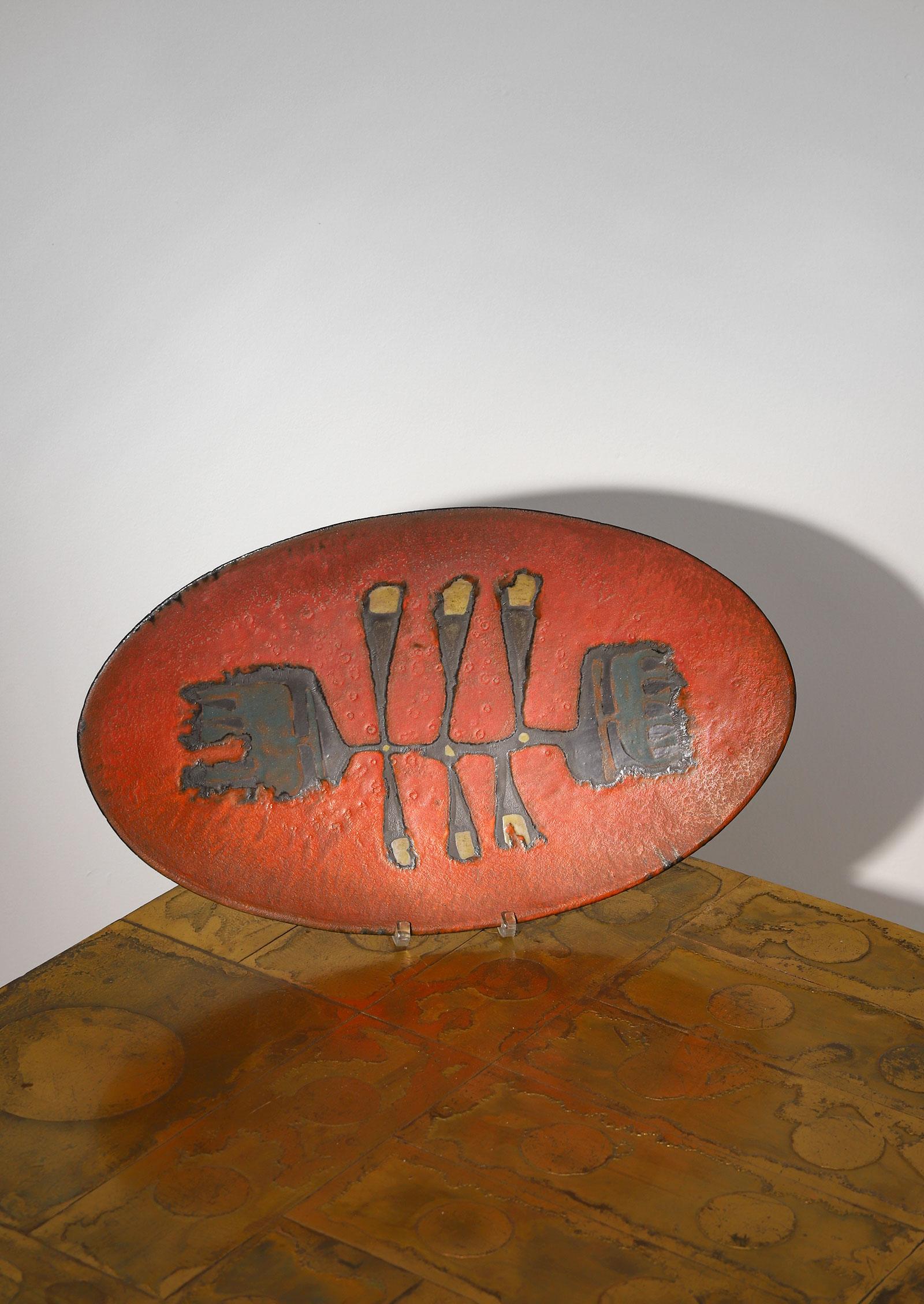 Decorative ceramic Perignem plate 1960simage 4