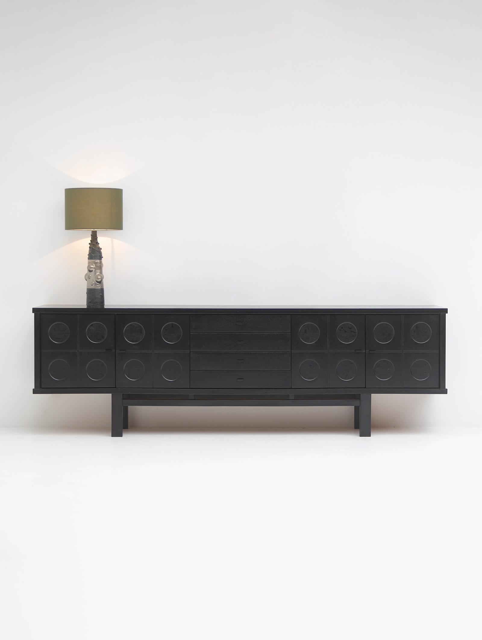 70s Sideboard with Geometrical Doorsimage 1