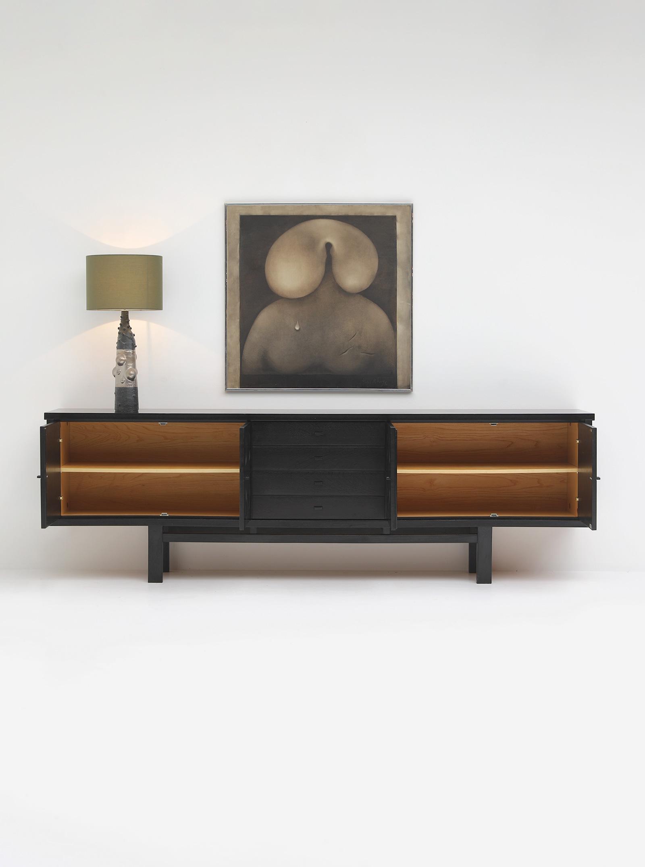 70s Sideboard with Geometrical Doorsimage 2