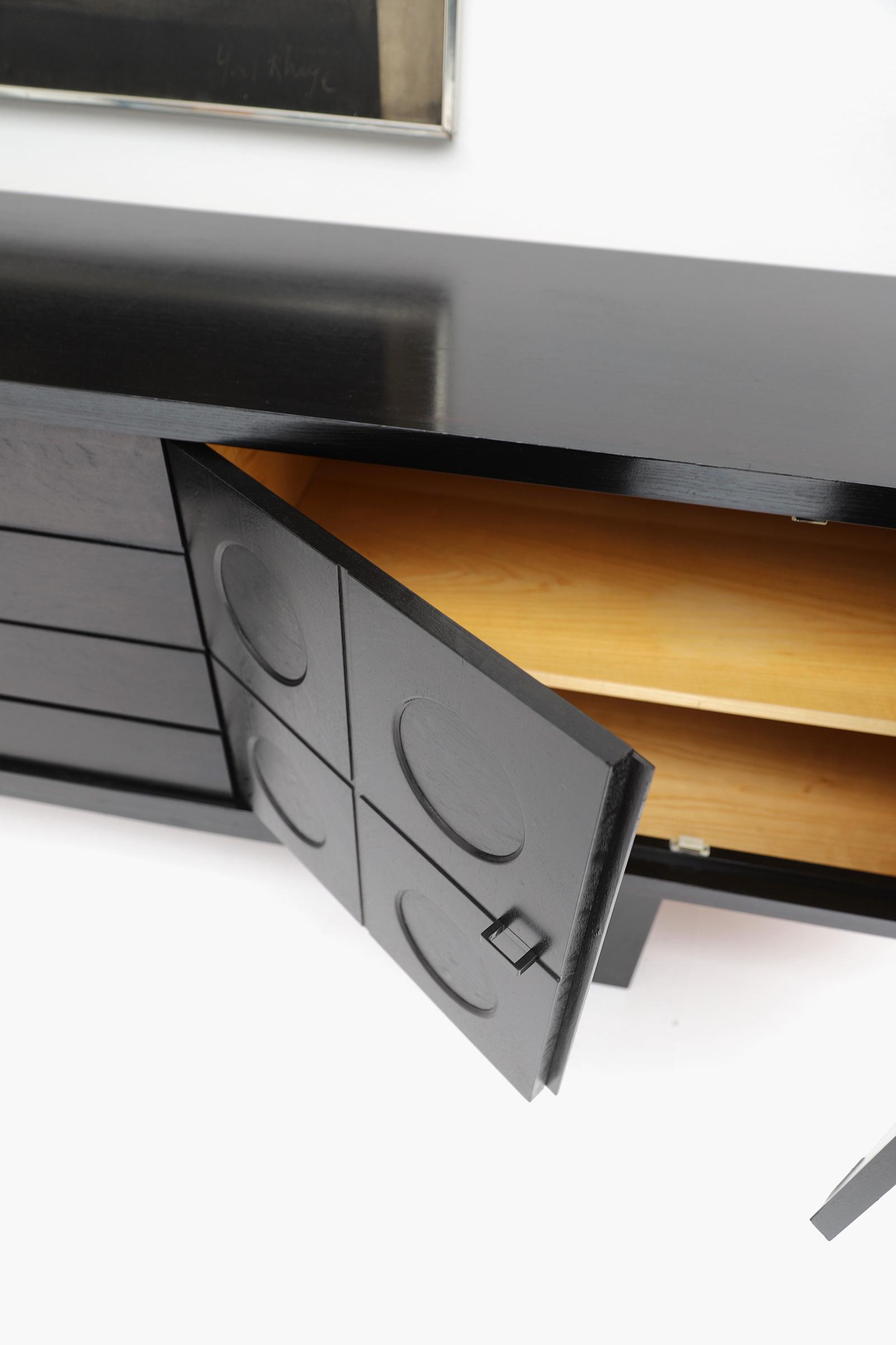 70s Sideboard with Geometrical Doorsimage 9