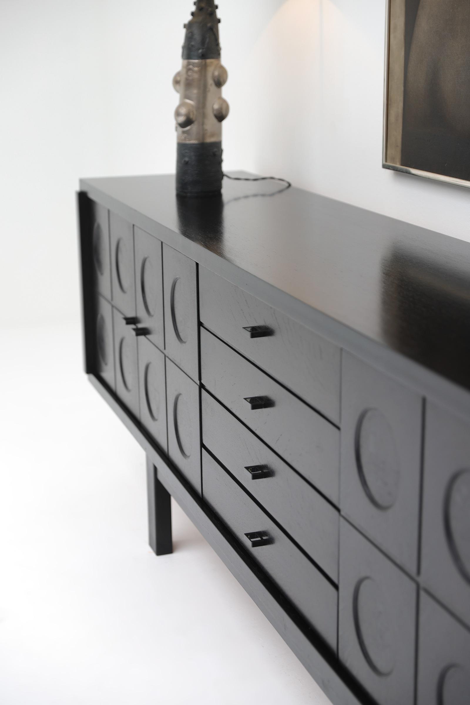 70s Sideboard with Geometrical Doorsimage 5