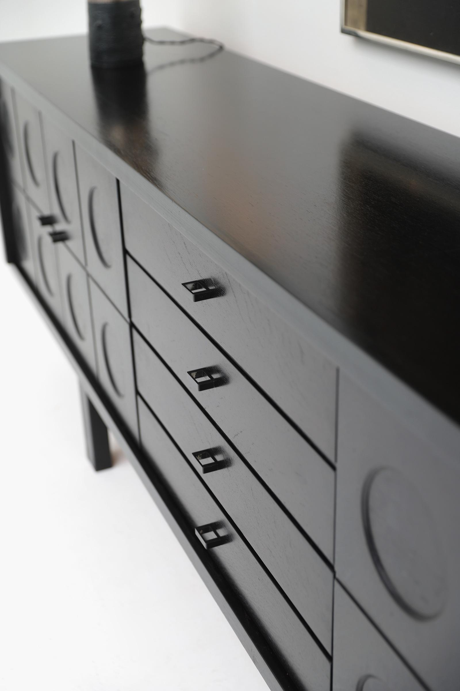 70s Sideboard with Geometrical Doorsimage 6