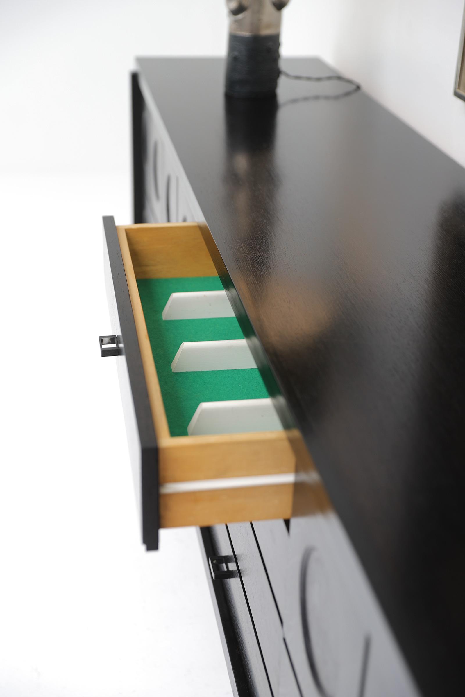 70s Sideboard with Geometrical Doorsimage 7
