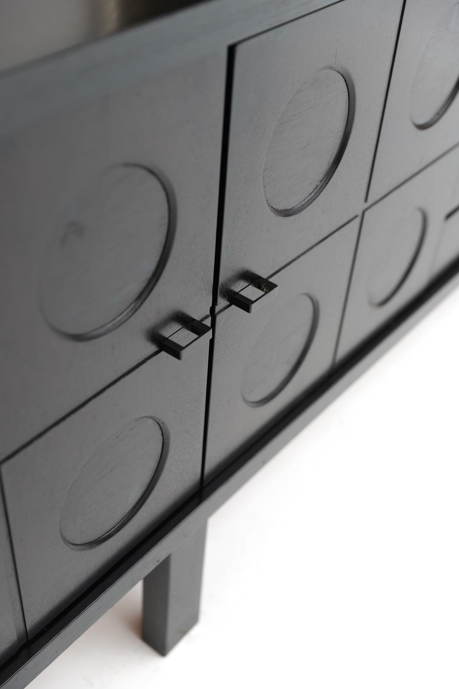 70s Sideboard with Geometrical Doorsimage 10