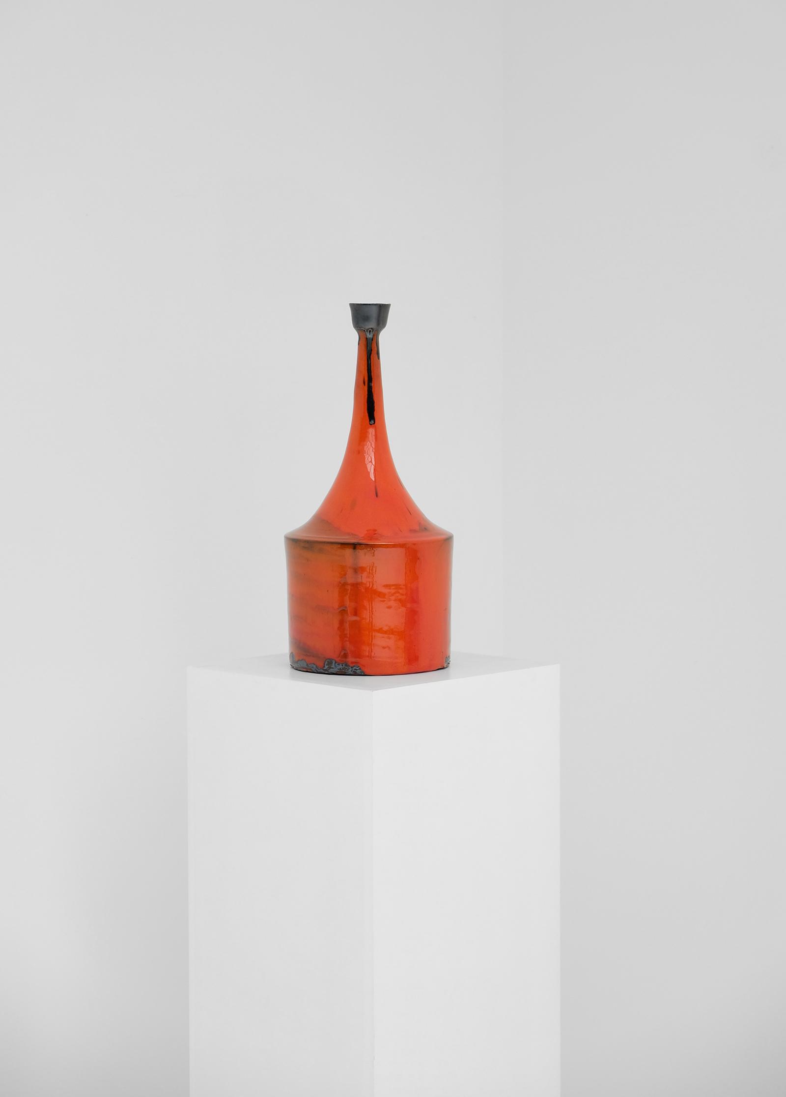 Orange Ceramic Vase 60simage 2