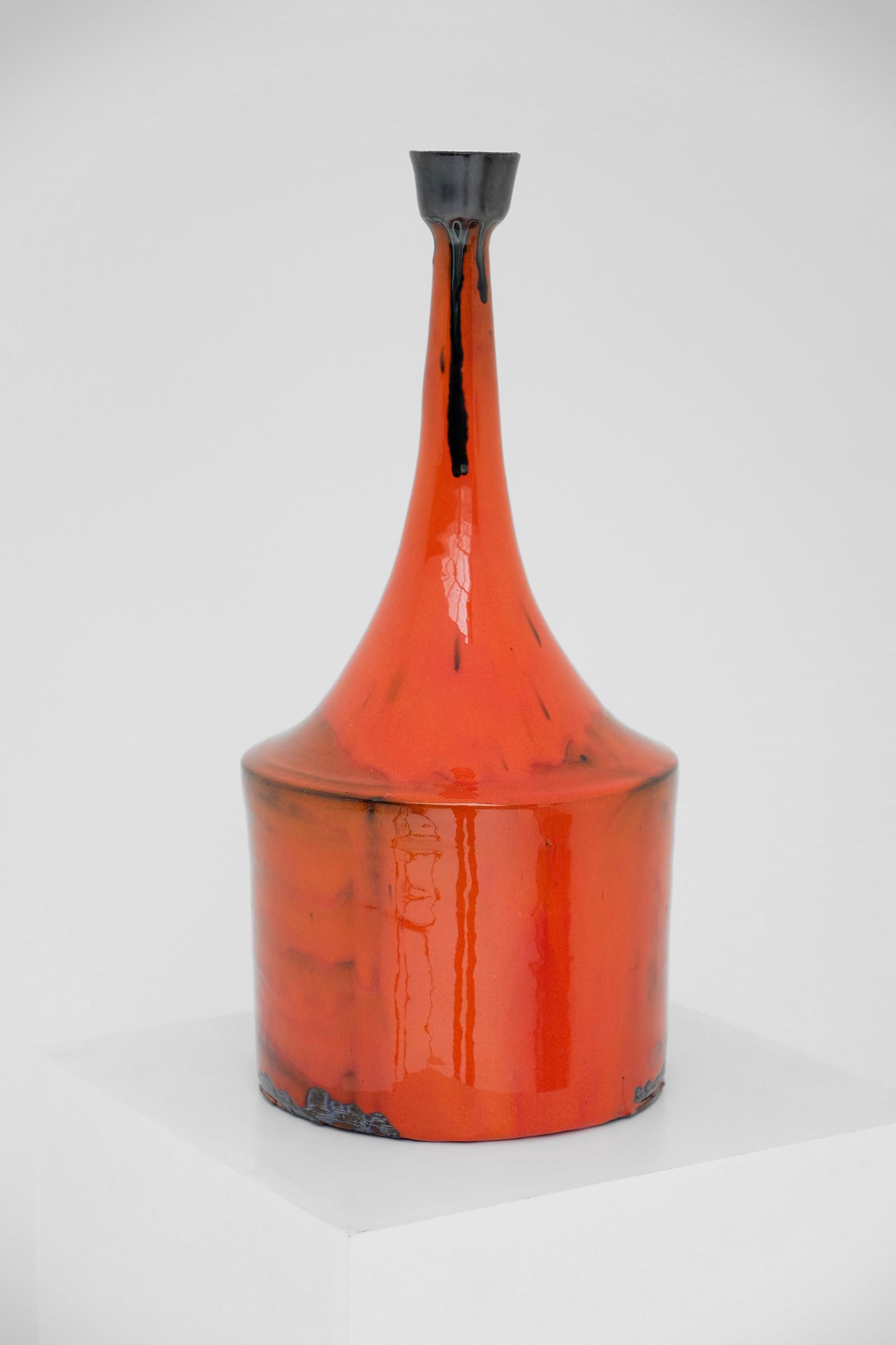 Orange Ceramic Vase 60simage 3