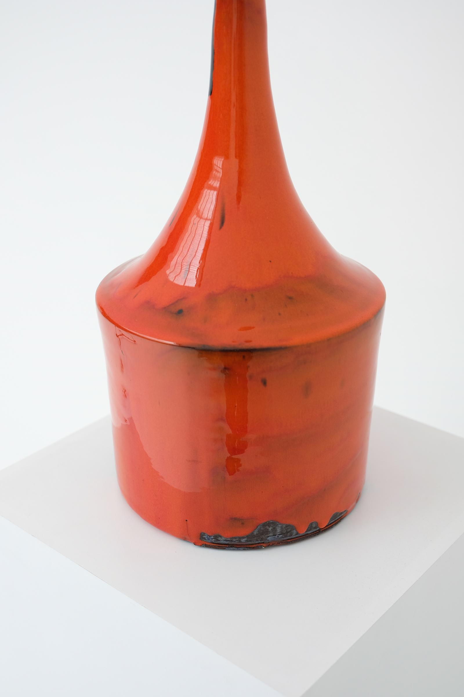 Orange Ceramic Vase 60simage 4