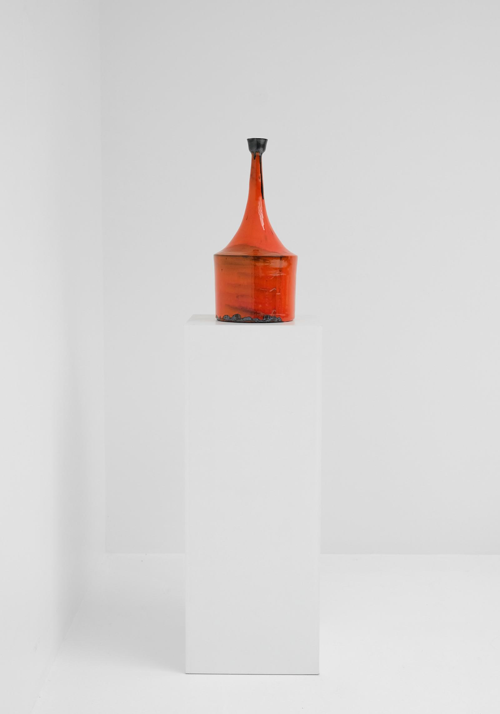 Orange Ceramic Vase 60simage 1