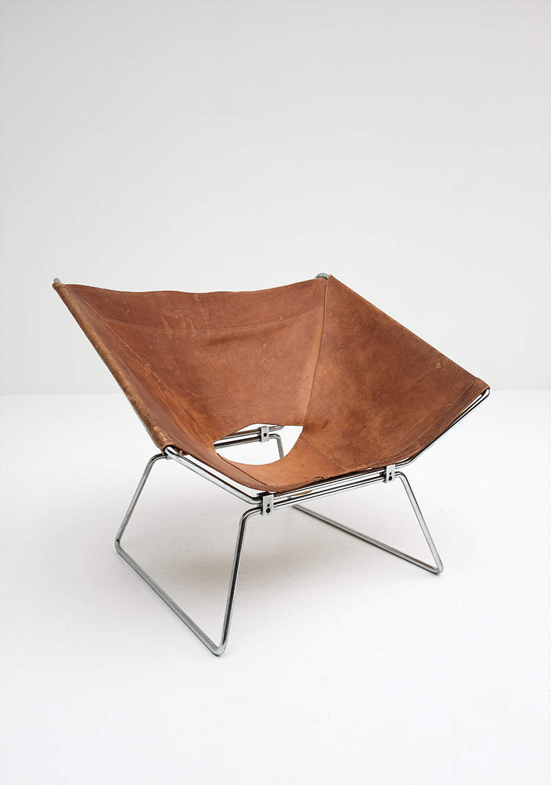 Pierre Paulin Original Leather Annau Chair image 5