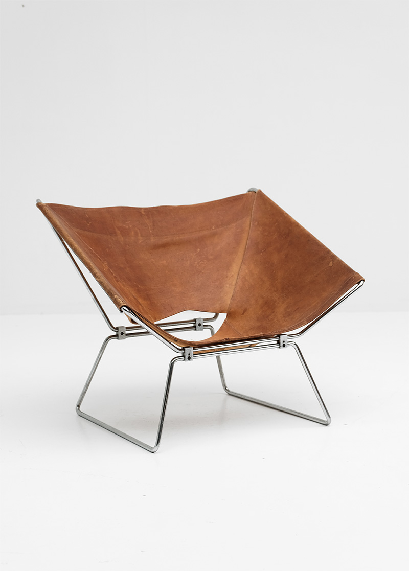 Pierre Paulin Original Leather Annau Chair image 1