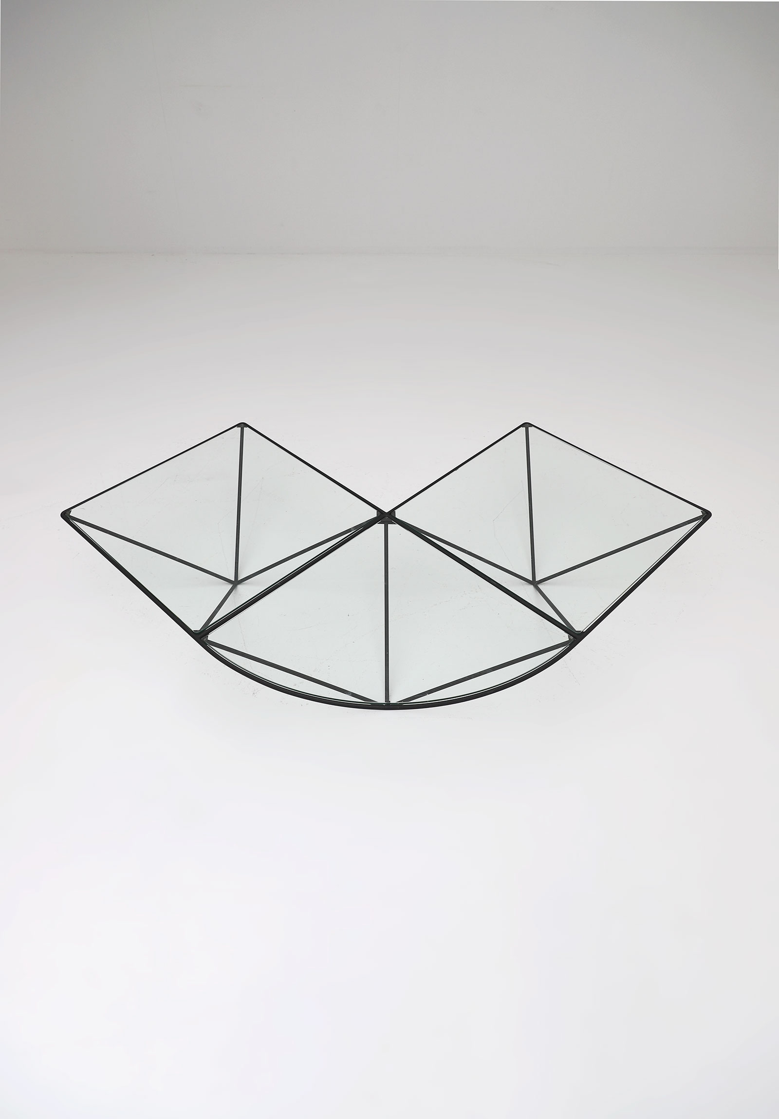 Glass corner coffee table Unknown, 1980simage 3