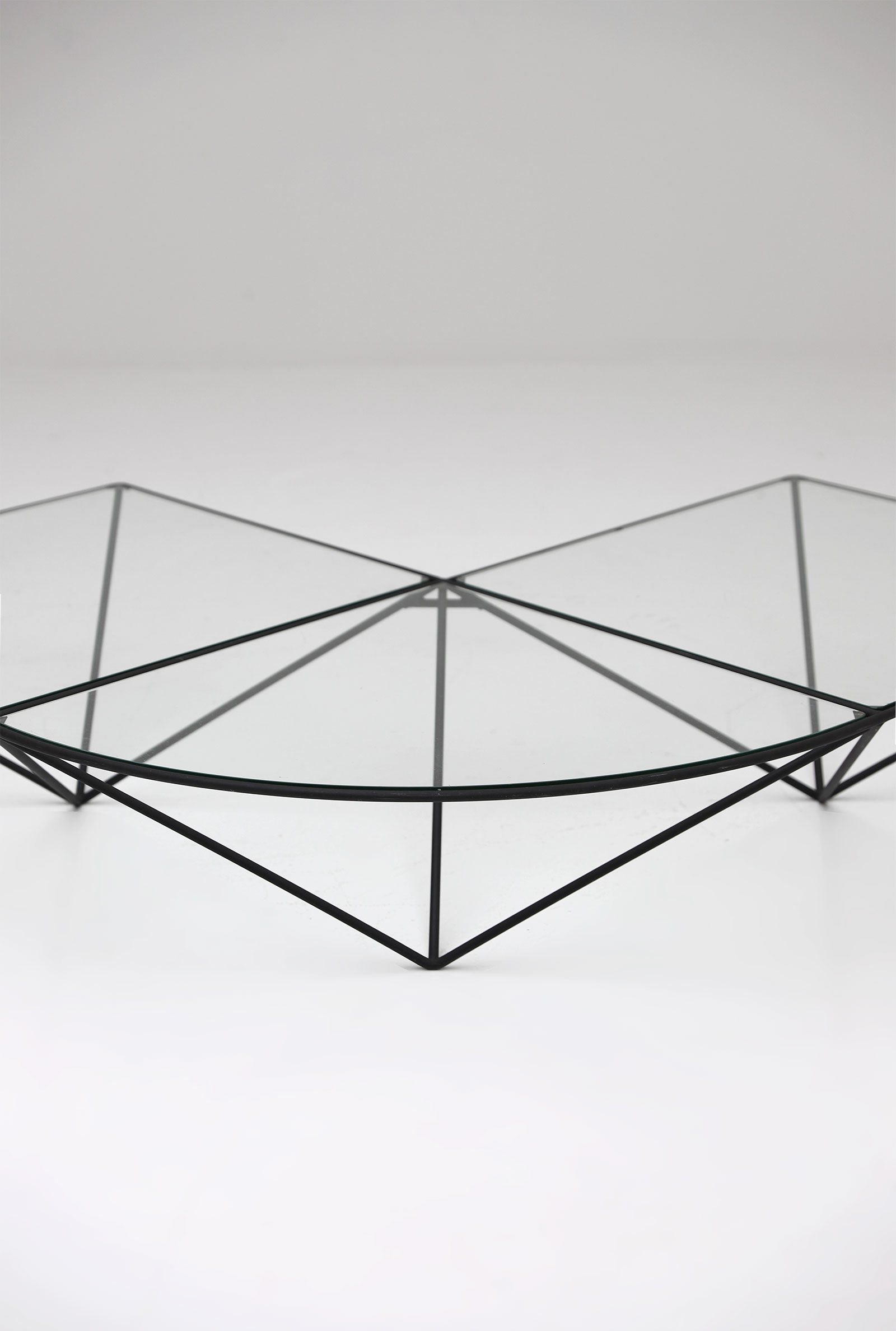 Glass corner coffee table Unknown, 1980simage 4