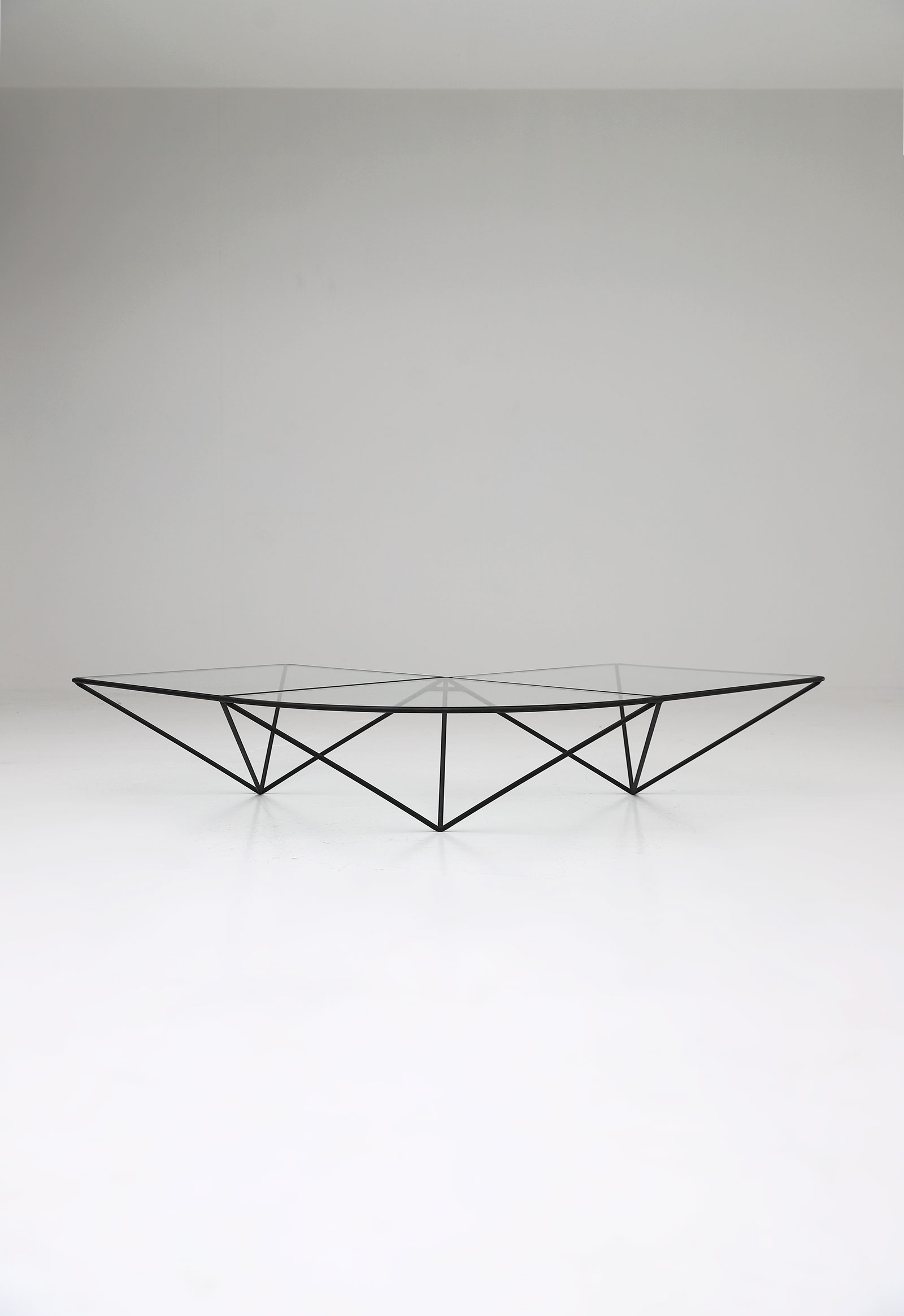Glass corner coffee table Unknown, 1980simage 1