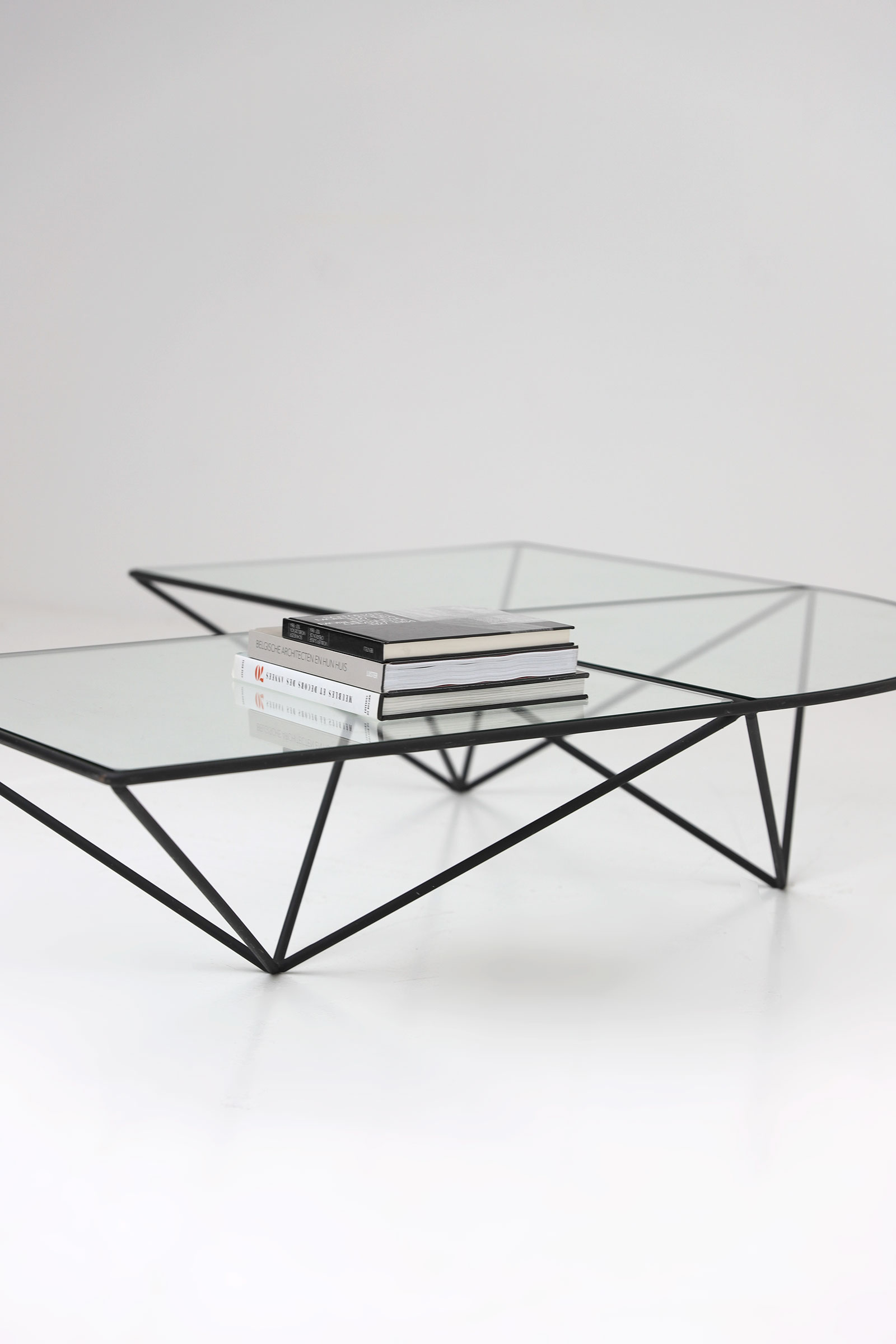 Glass corner coffee table Unknown, 1980simage 7