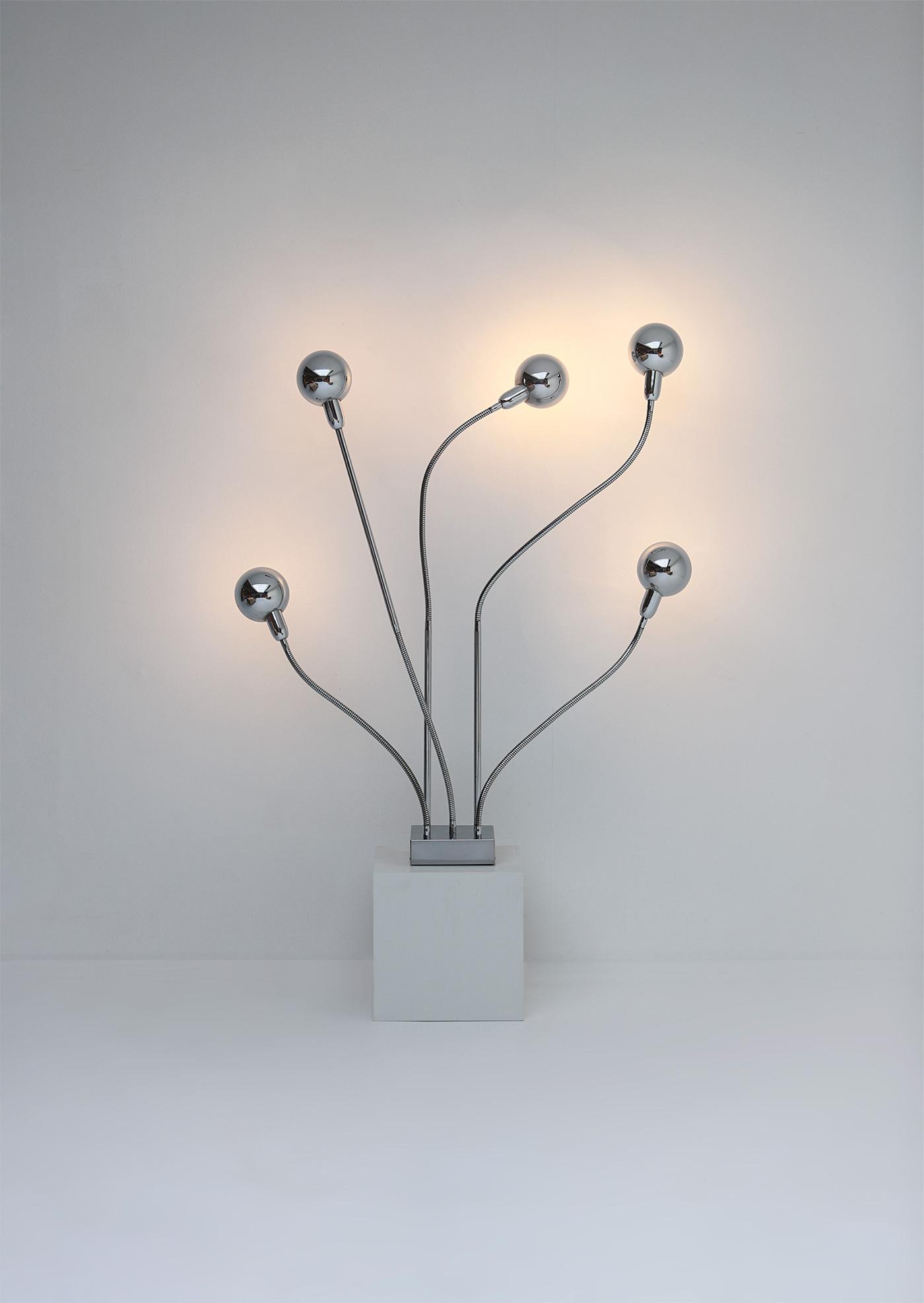 Pierre Folie Hydra floor lamp for Jacques Charpentierimage 1
