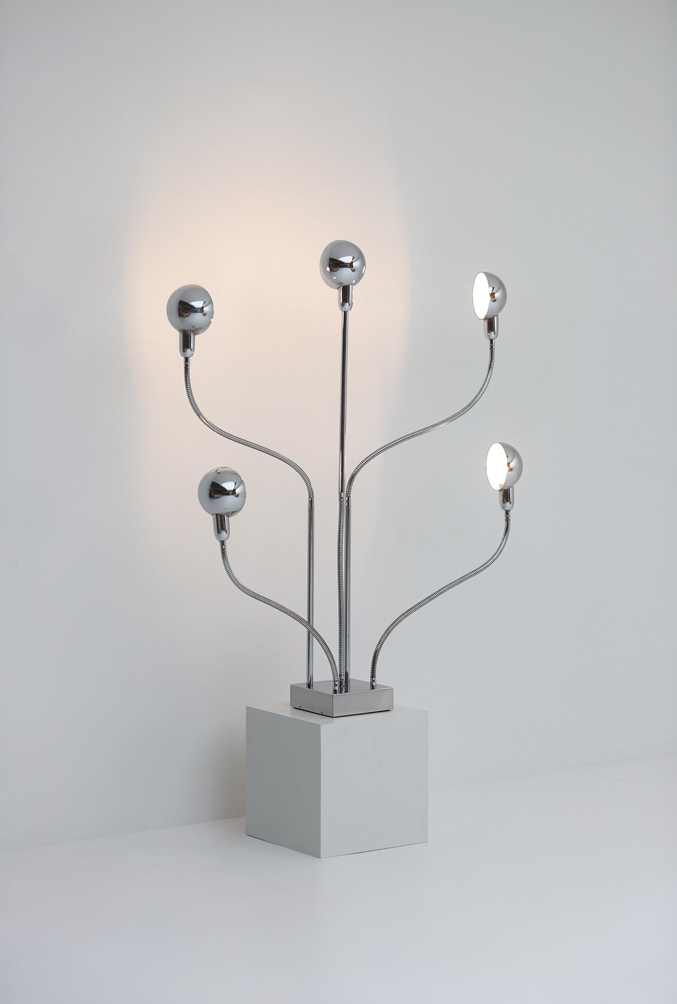 Pierre Folie Hydra floor lamp for Jacques Charpentierimage 8
