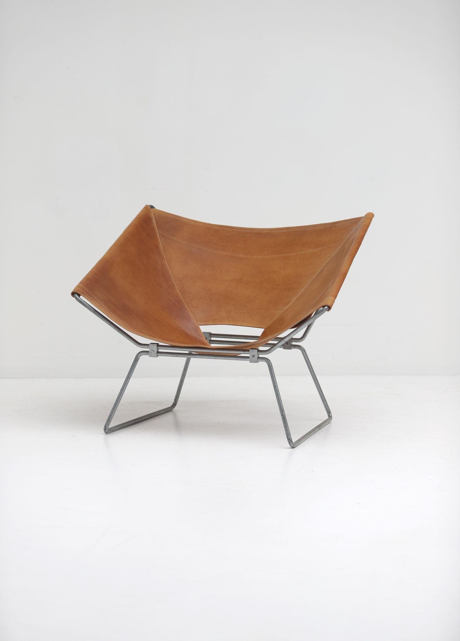 Pierre Paulin Original Leather Annau Chairimage 2