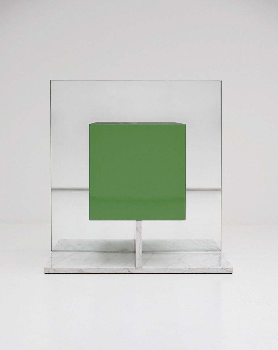 Pieter De Bruyne Green Mirror Cabinet With Marble Base 1974image 8