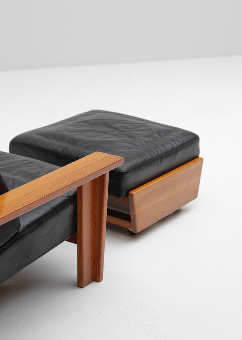1960 HANDCRAFTED LOUNGE CHAIR AND OTTOMAN