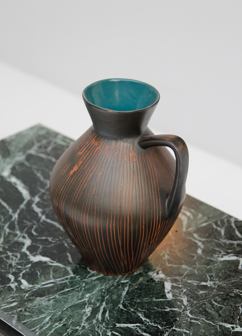 West German Pottery Pitcher Vase