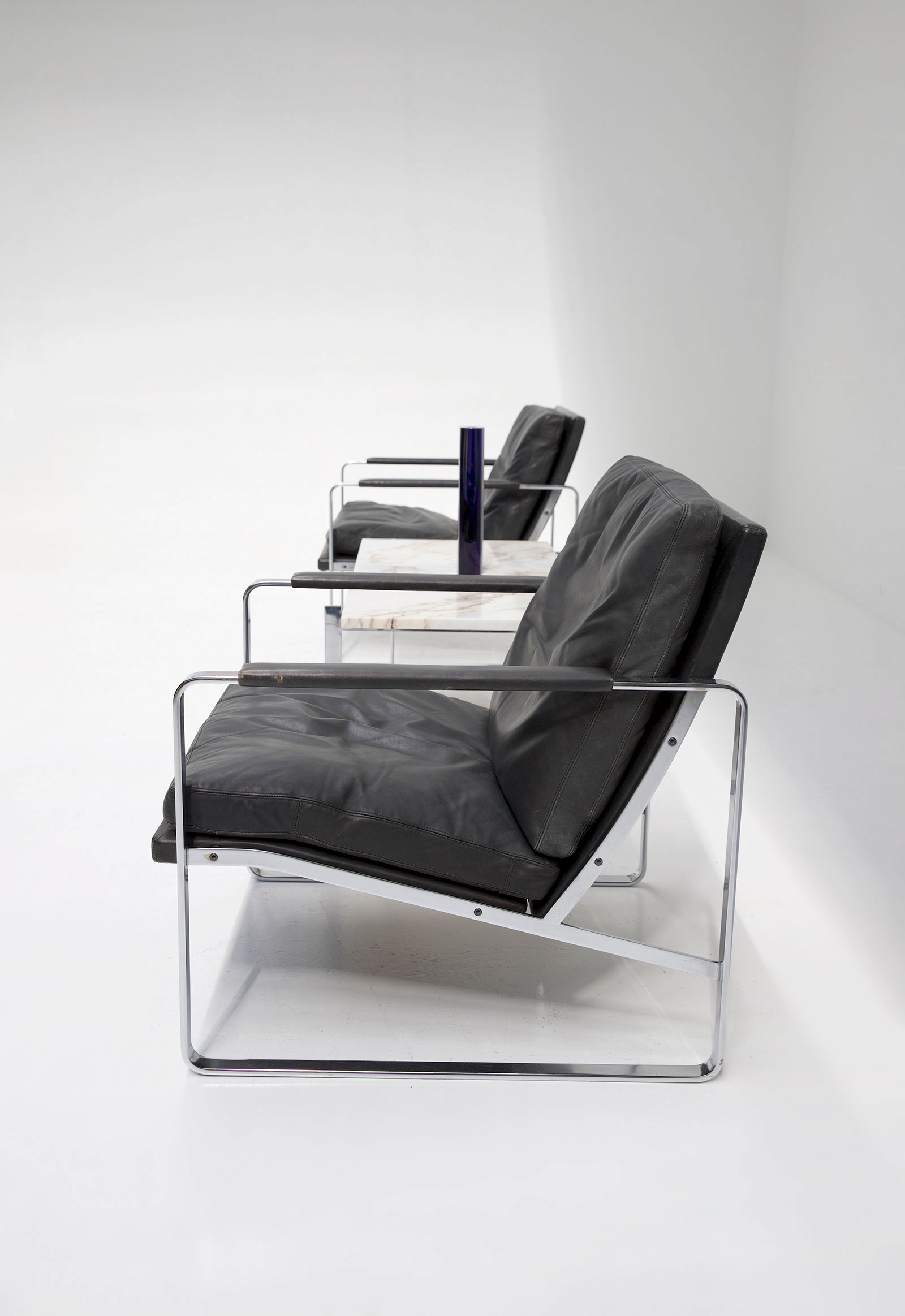 Pair of armchairs designed by Preben Fabricius for Walter Knoll