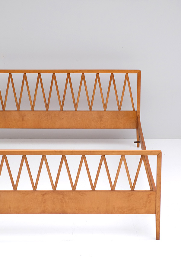 ZIGZAG BIRCH WOODEN BED FRAME