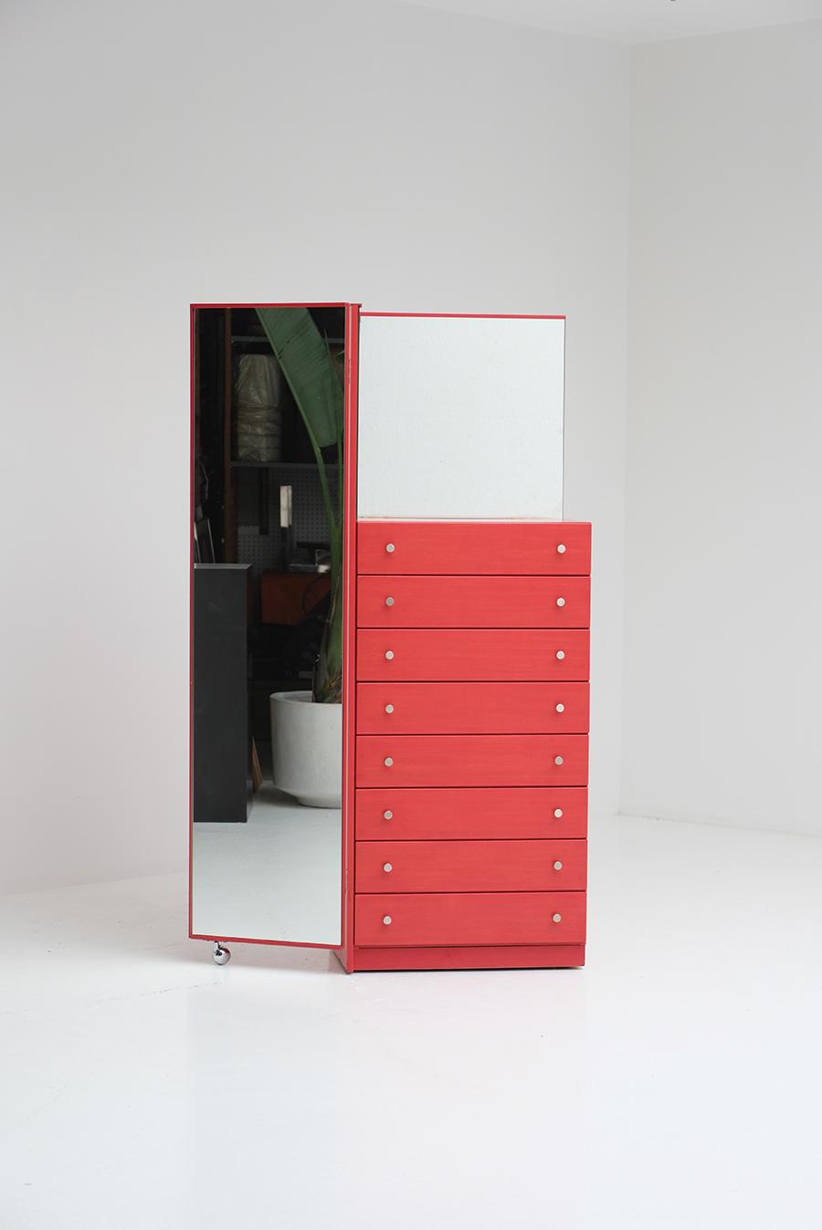 Red Commode Dresser Mirrorimage 10