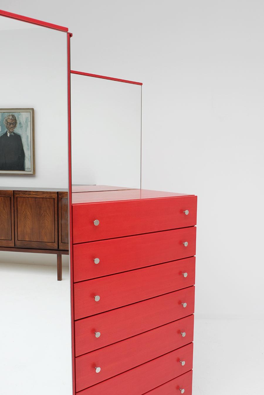 Red Commode Dresser Mirrorimage 4