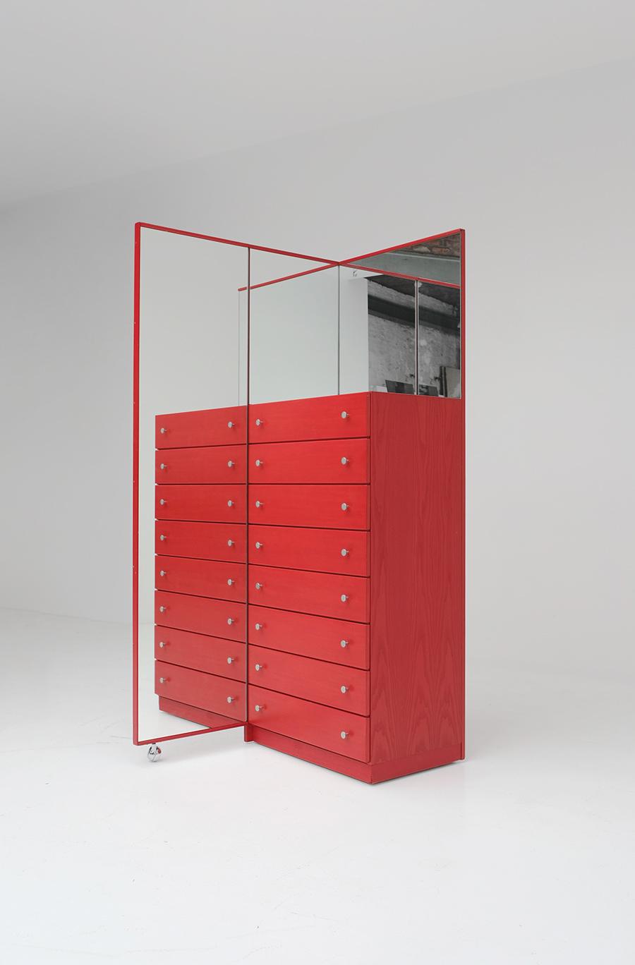 Red Commode Dresser Mirrorimage 12