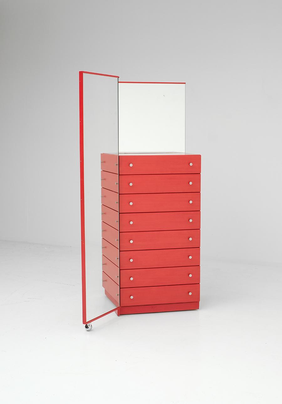 Red Commode Dresser Mirrorimage 6