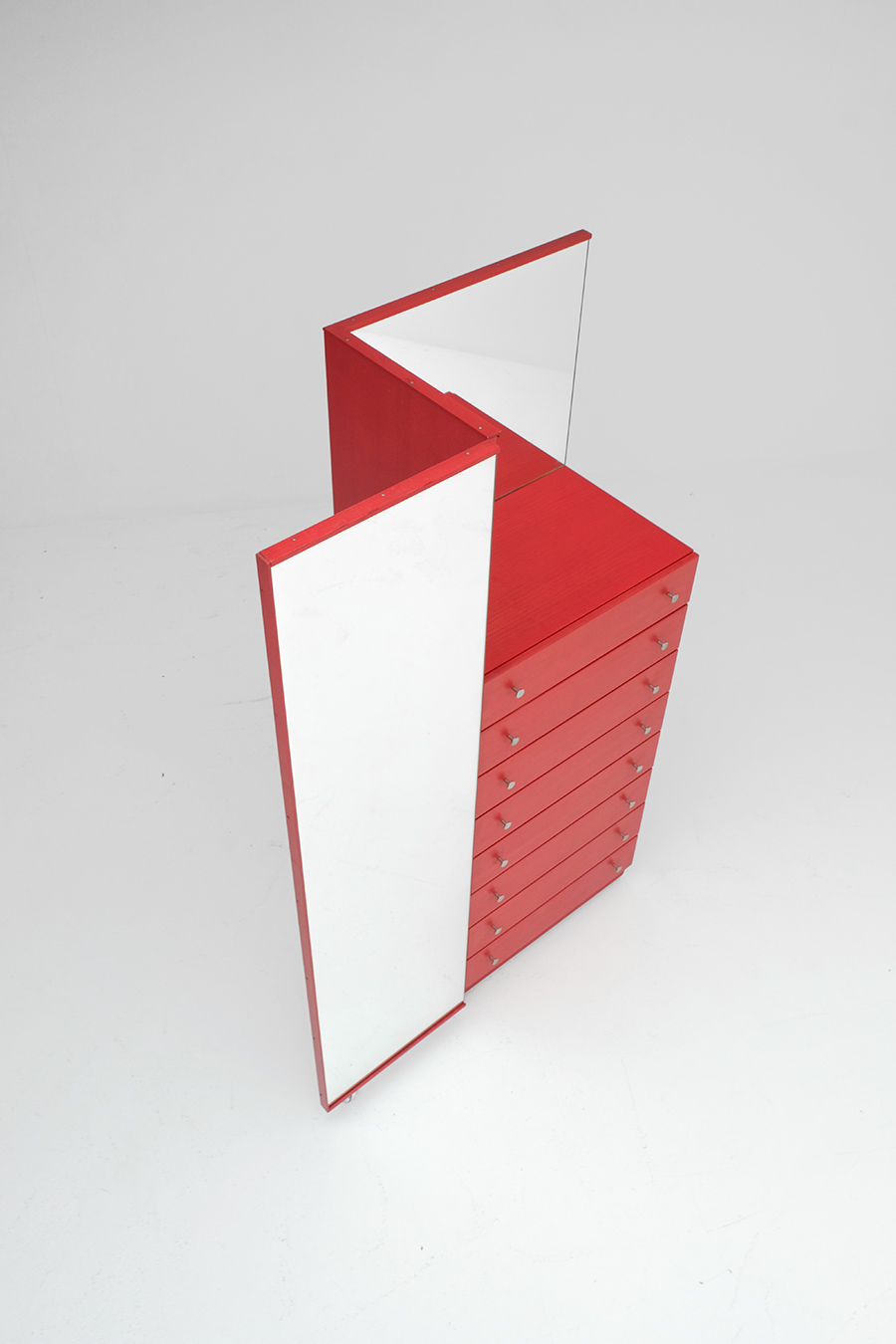 Red Commode Dresser Mirrorimage 7