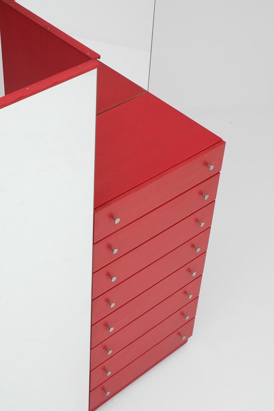 Red Commode Dresser Mirrorimage 8
