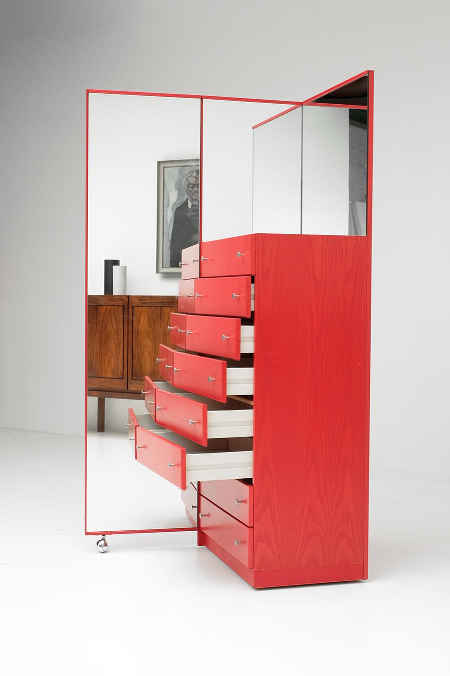 Red Commode Dresser Mirrorimage 9