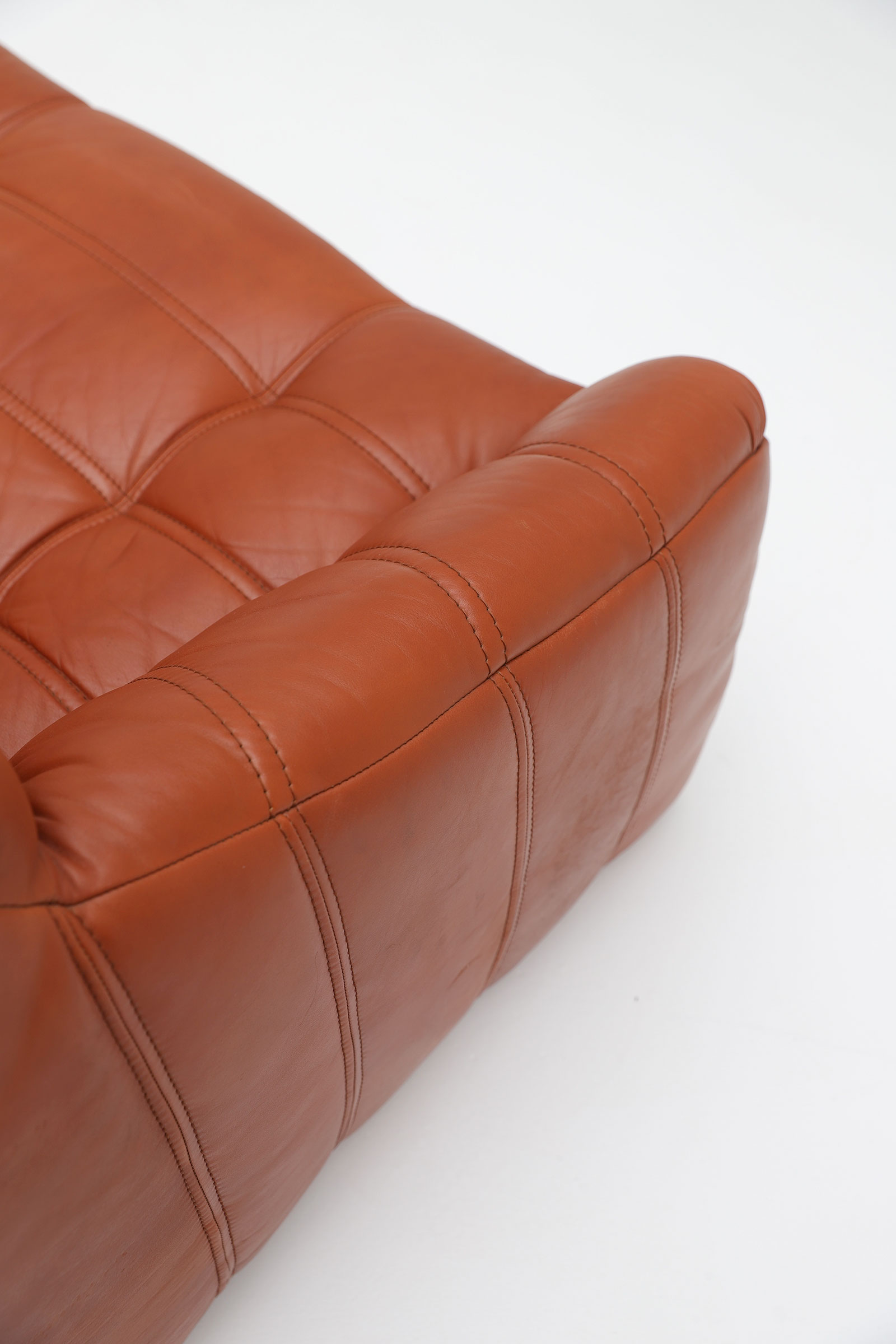 1970s Rolf Benz Leather Sofa