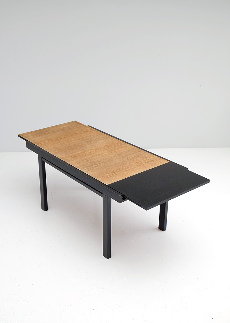Black Ebonized Two Tone Dining Tableimage 5