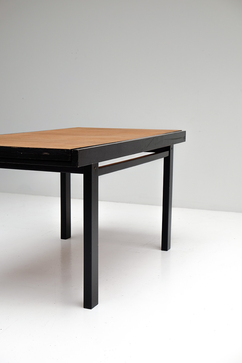 Black Ebonized Two Tone Dining Tableimage 7