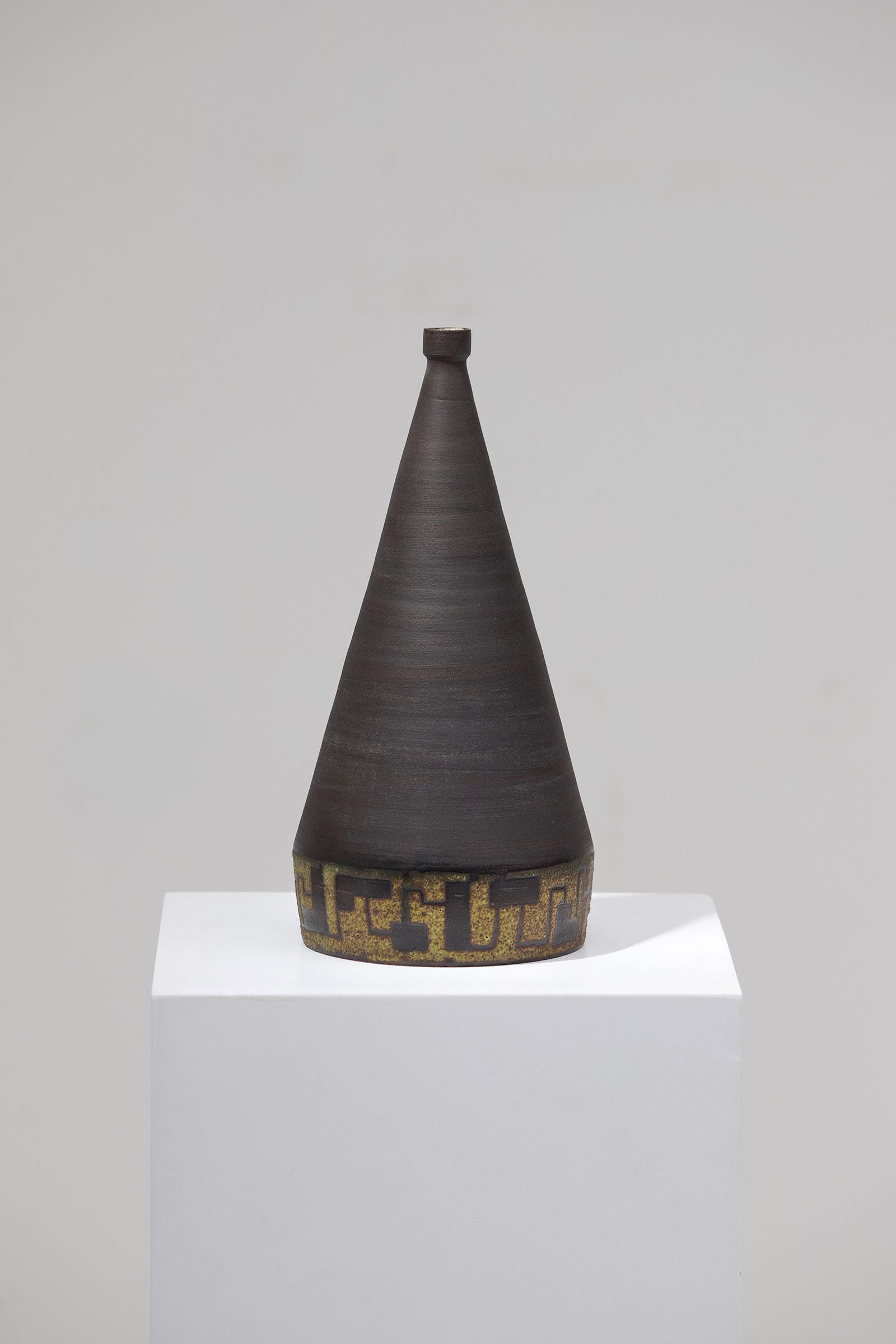Signed Ceramic Vase 1963