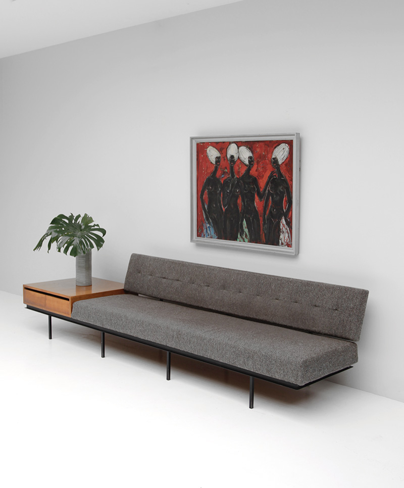 City Furniture Sofa And Cabinet By Florence Knoll