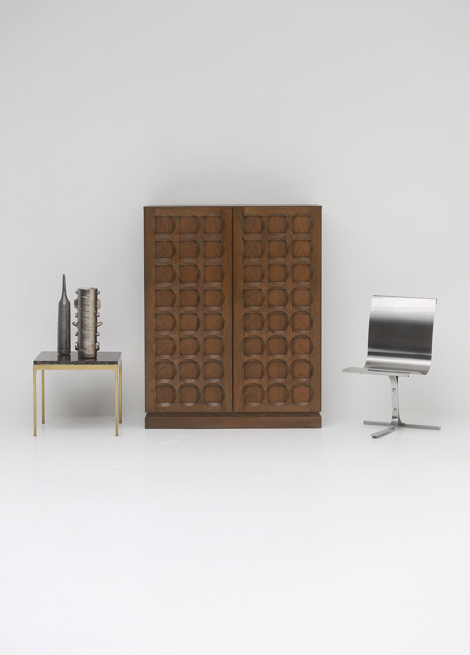 1970s Defour Cabinet Graphical Door Panels image 1