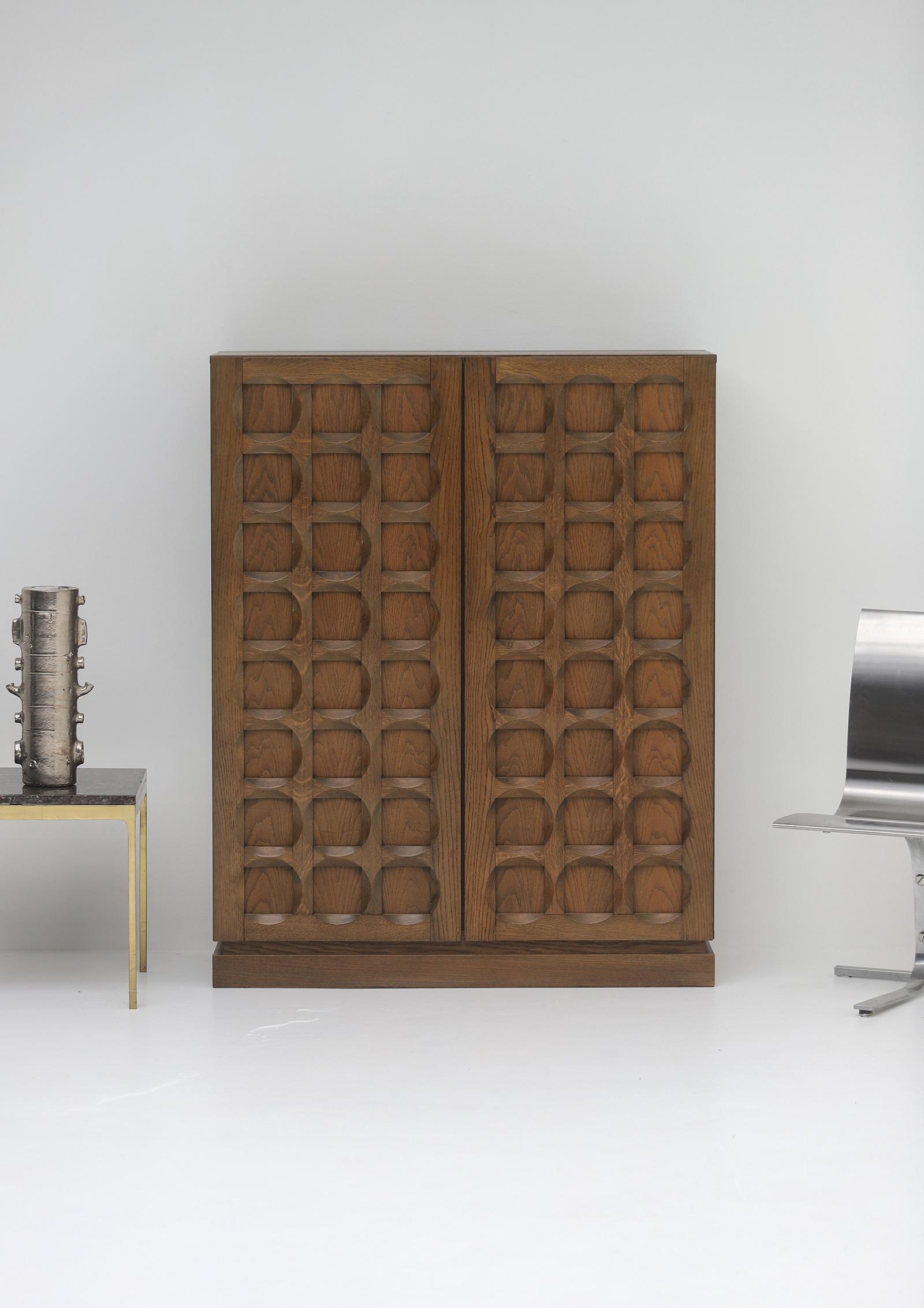 1970s Defour Cabinet Graphical Door Panels image 2