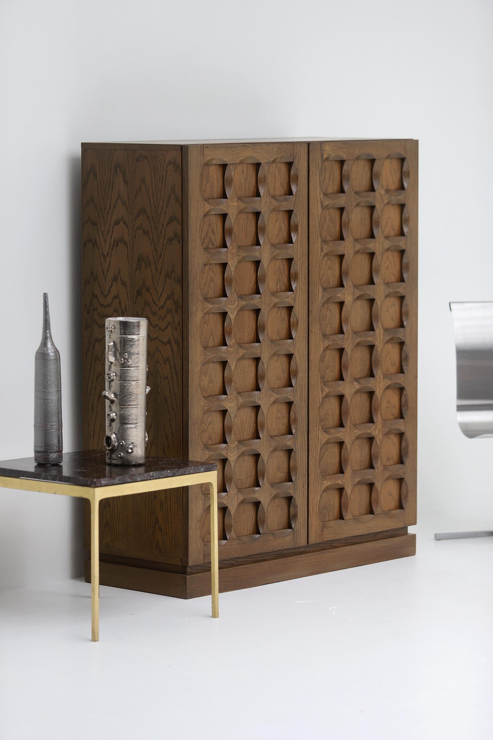 1970s Defour Cabinet Graphical Door Panels image 6