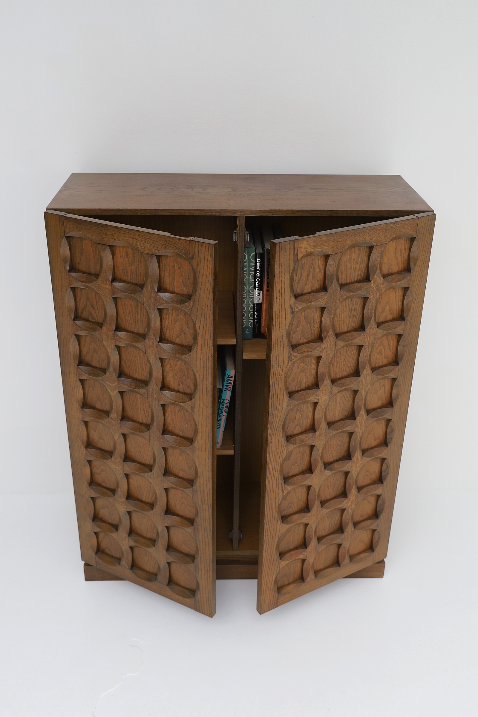 1970s Defour Cabinet Graphical Door Panels image 11